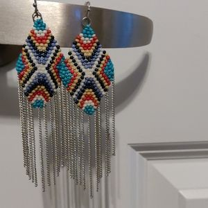 Beaded earrings from Lord and Taylor